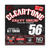 Cleartone 9456 Heavy Drop D 11-56 Cuerdas Guitarra electrica