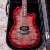 Tom Anderson Crowdster Plus Natural Black to T-Red Burst with Binding
