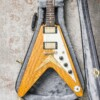 Echopark Korina Flameada Flying V Albert 58 Custom