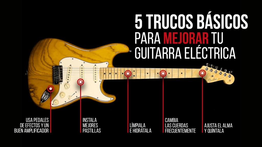 5 trucos básicos para mejorar el sonido de tu guitarra eléctrica