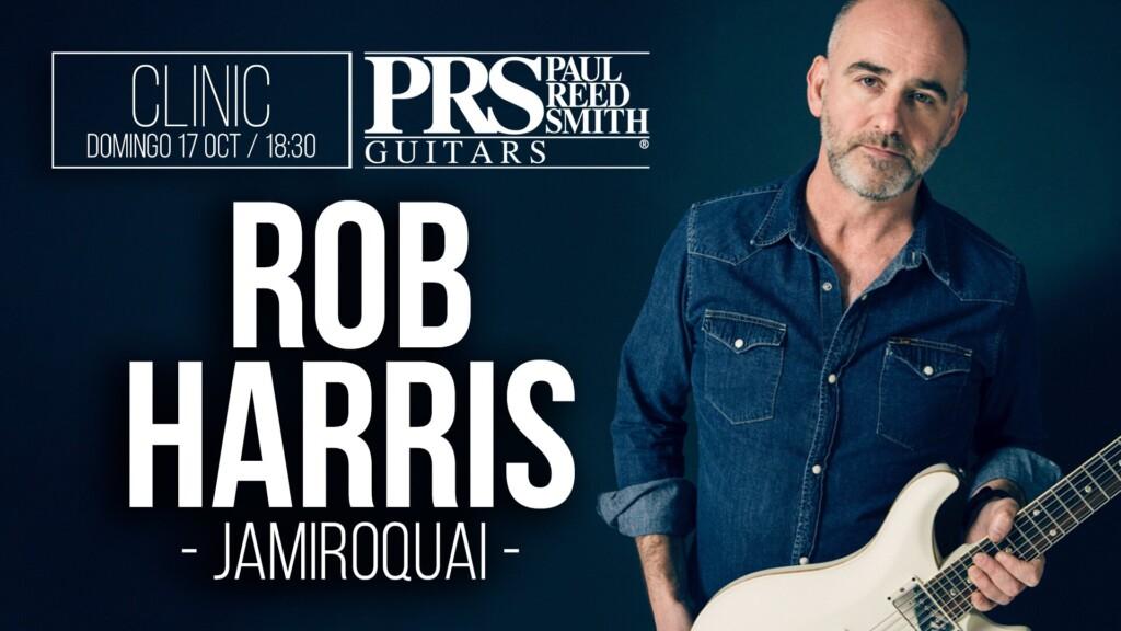 Clinic del guitarrista de Jamiroquai, Rob Harris, en Fanatic Guitars Barcelona.